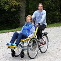The DUET Wheelchair Bicycle Tandem